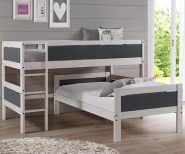 Walsh Twin over Twin Low Loft Bed