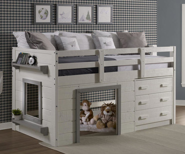 Sweet Dreams Low Loft Bed