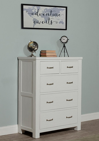 Everglades 5 Drawer Chest White