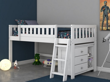 Cambridge Low Loft Bed with Chest