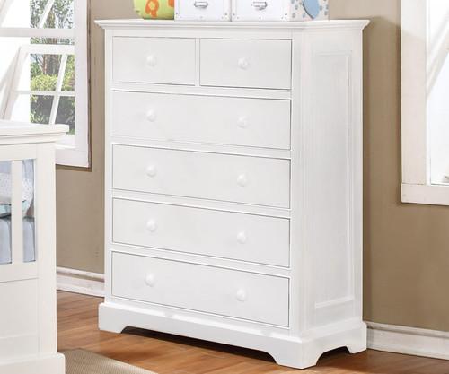 Allen House 6 Drawer Chest White | Allen House | AH-W1006-01
