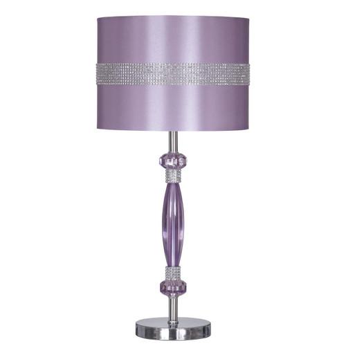 Nyssa Metal Table Lamp Purple