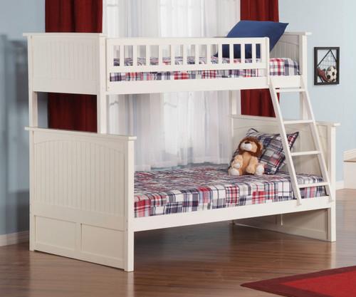 Nantucket Bunk Bed Twin over Full White | Atlantic Furniture | ATL-AB59202