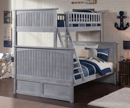 Nantucket Twin over Full Bunk Bed Driftwood Grey | Atlantic Furniture | ATL-AB59208