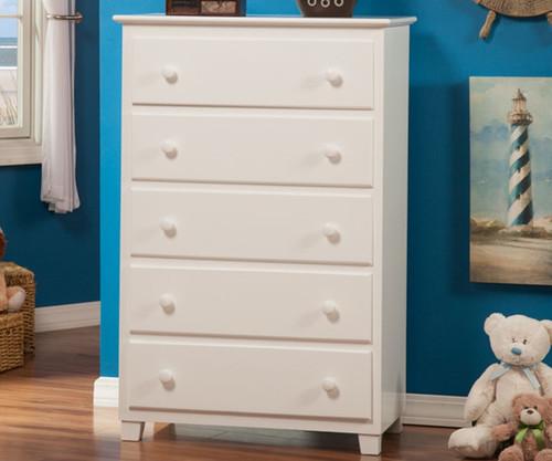Atlantic 5 Drawer Chest White | Atlantic Furniture | ATL-C-68402