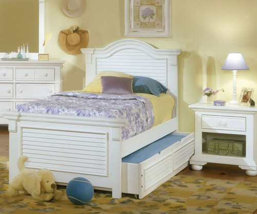 Cottage Traditions Panel Bed Full Size   American Woodcrafters   AW6510-46PAN