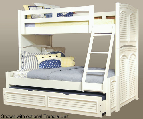 Cottage Traditions Bunk Bed Twin over Full Size   American Woodcrafters   AW6510-TFBNK