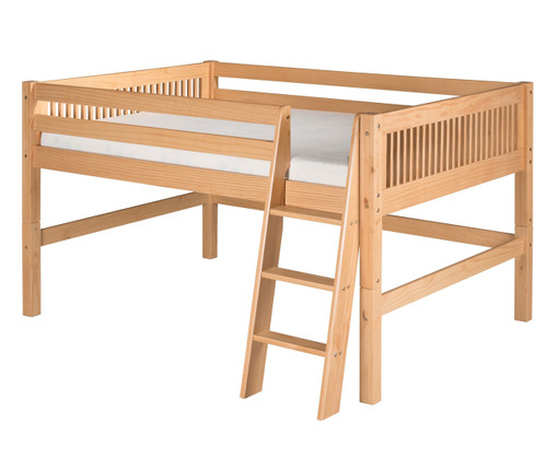 Camaflexi Low Loft Bed Full Size Natural | Camaflexi Furniture | CF-E411F