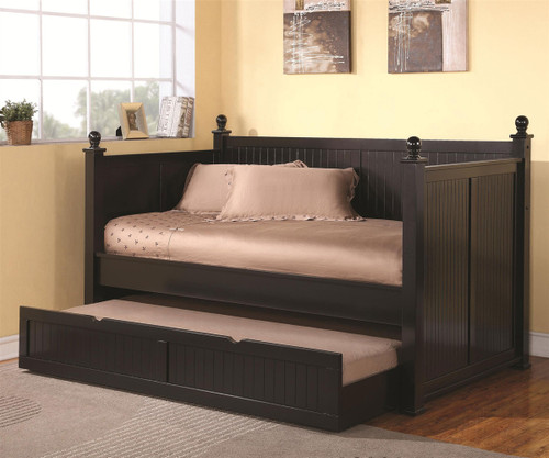 Nantucket Day Bed with Trundle - Black | Coaster Furniture | CS300027