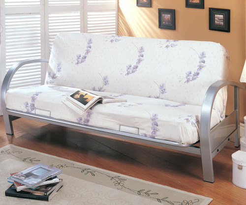 Coaster Nickel Metal Futon Sofa   Coaster Furniture   CS7251