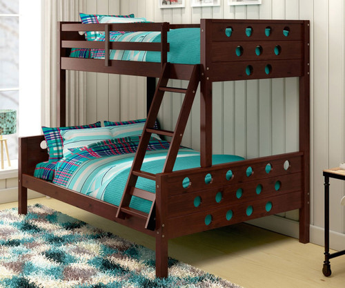 Circles Bunk Bed Twin over Full Cappuccino | Donco Trading | DT1002TFCP