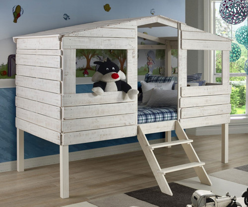 Tree House Loft Bed Twin Size | Donco Trading | DT1380TLRS