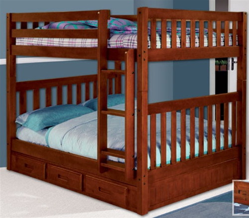 Acadia Mission Full over Full Bunk Bed 1   Discovery World Furniture   DWF2815-