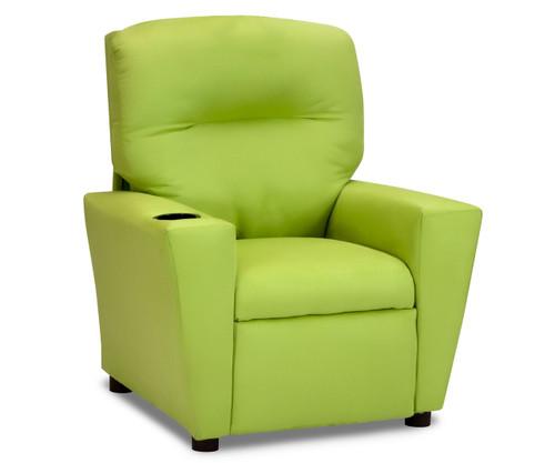 Kidz World Recliner Designer Fabric Lime Suede | Kidz World | KW1300-LS