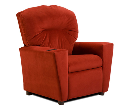 Kidz World Recliner Designer Fabric Red Suede | Kidz World | KW1300-RS