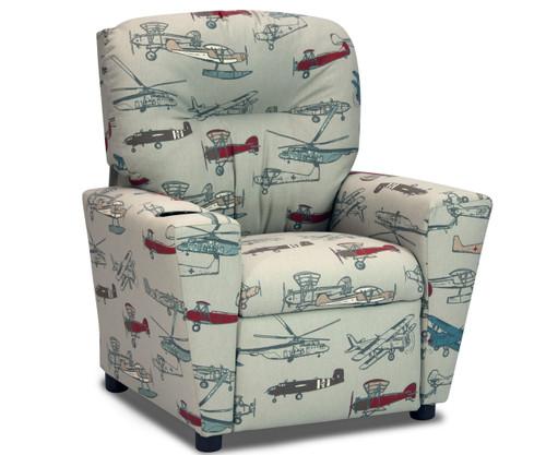 Kidz World Recliner Designer Fabric Vintage Air | Kidz World | KW1300-VAP