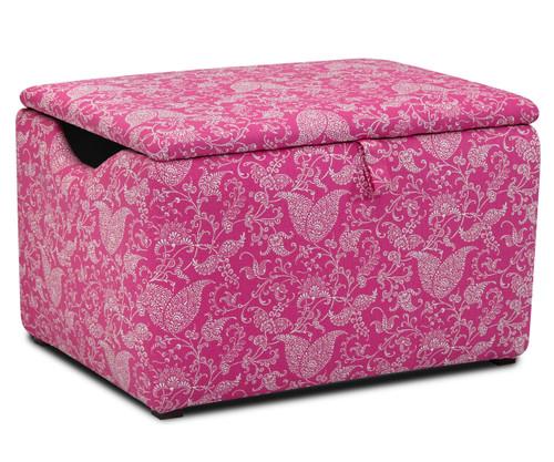 Kidz World Storage Box Designer Fabric Small Paisley Candy Pink   Kidz World   KW1400-SPCP