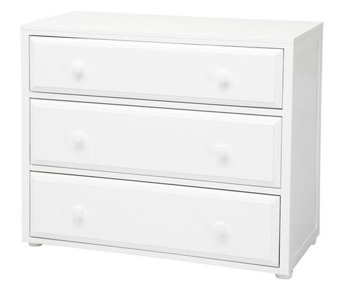 Maxtrix 3 Drawer Dresser White   Maxtrix Furniture   MX-4230-W