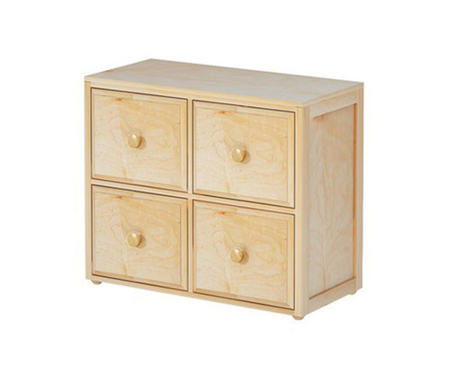 Maxtrix 4 Drawer Cube Unit Natural | Maxtrix Furniture | MX-4340-N
