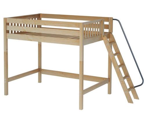 Maxtrix CHUNKY High Loft Bed Full Size Natural | Maxtrix Furniture | MX-CHUNKY-NX