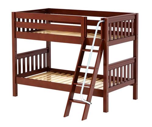 Maxtrix HOTHOT Low Bunk Bed Twin Size Chestnut | Maxtrix Furniture | MX-HOTHOT-CX
