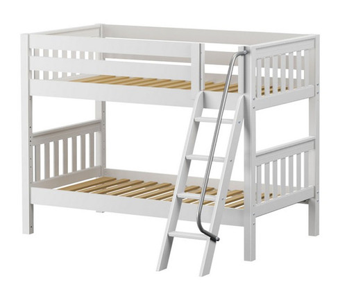 Maxtrix HOTHOT Low Bunk Bed Twin Size White | Maxtrix Furniture | MX-HOTHOT-WX