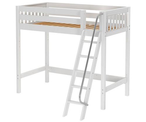Maxtrix KNOCKOUT High Loft Bed Twin Size White | Maxtrix Furniture | MX-KNOCKOUT-WX