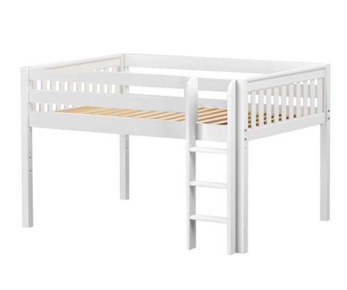 Maxtrix LARGE Low Loft Bed Full Size White | Maxtrix Furniture | MX-LARGE-WX