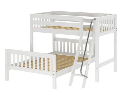 Maxtrix MAX Bunk Bed Twin over Full Size White | Maxtrix Furniture | MX-MAX-WX