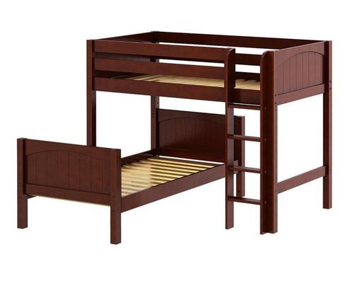 Maxtrix MISH L-Shaped Bunk Bed Twin Size Chestnut | Maxtrix Furniture | MX-MISH-CX