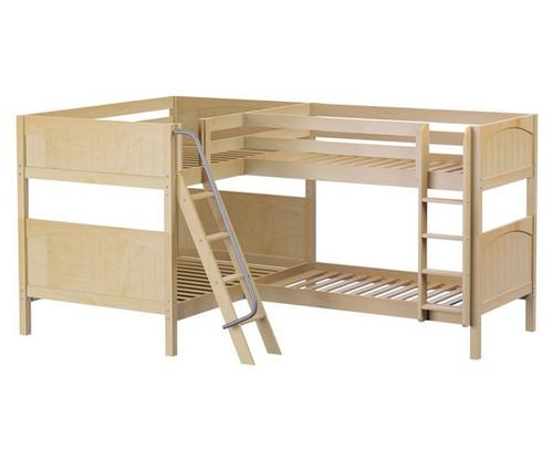 Maxtrix QUADRANT Corner Bunk Bed Full Size Natural | Maxtrix Furniture | MX-QUADRANT-NX