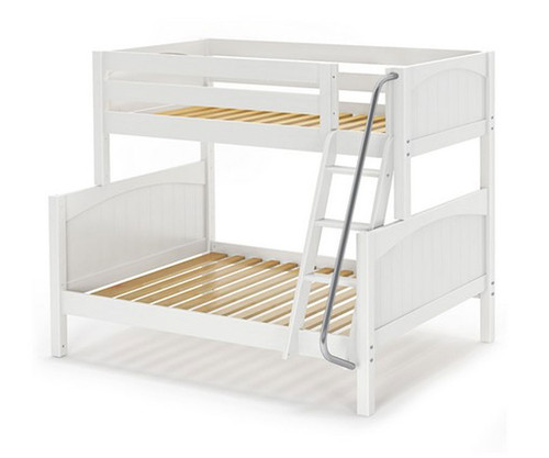 Maxtrix SLOPE Bunk Bed Twin over Full Size White | Maxtrix Furniture | MX-SLOPE-WX