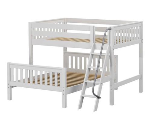Maxtrix SQUASH L-Shaped Bunk Bed Full Size White | Maxtrix Furniture | MX-SQUASH-WX