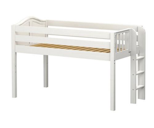 Maxtrix TIGHT Low Loft Bed Twin Size White   Maxtrix Furniture   MX-TIGHT-WX