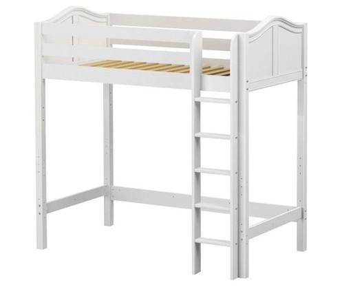 Maxtrix JIBJAB Ultra-High Loft Bed Twin Size White | Maxtrix Furniture | MX-ULTRAJIBJAB-WX