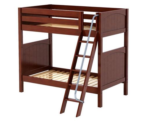 Maxtrix VENTI High Bunk Bed Twin Size Chestnut | Maxtrix Furniture | MX-VENTI-CX