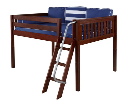 Maxtrix XL Low Loft Bed Full Size Chestnut | Maxtrix Furniture | MX-XL-CX