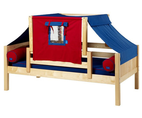 Maxtrix YO Day Bed with Top Tent Twin Size Natural | Maxtrix Furniture | MX-YO21-N