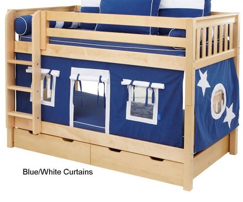 Bunk Bed Curtains Blue & White | Maxtrix | MX3220-022