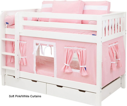 Bunk Bed Curtains Pink & White | Maxtrix | MX3220-023