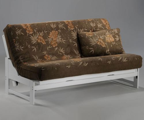 Eureka Futon Sofa White   Night and Day Furniture   ND-Eureka-WH
