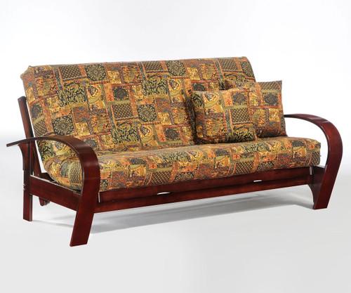 Montreal Futon Sofa Rosewood   Night and Day Furniture   ND-Montreal-RW
