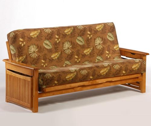 Raindrop Futon Sofa Medium Oak | Night and Day Furniture | ND-Raindrop-MO