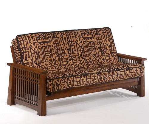 Solstice Futon Sofa Black Walnut   Night and Day Furniture   ND-Solstice-BW