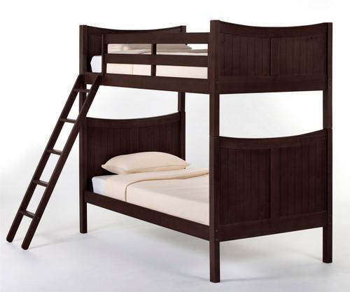 School House Taylor Bunk Bed Chocolate | NE Kids | NE-5030BUNK