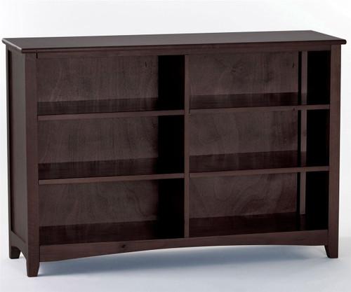 School House Wide Bookcase Chocolate | NE Kids Furniture | NE-5568
