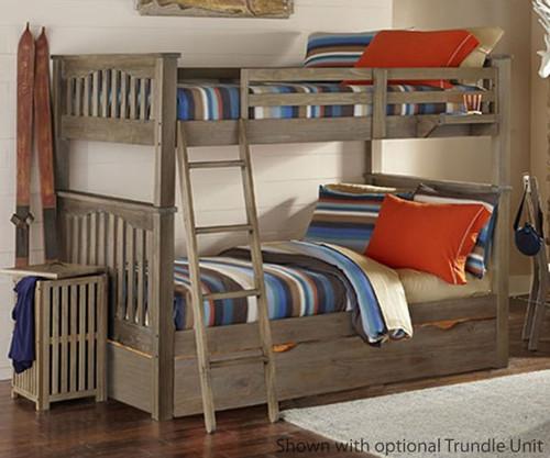 Everglades Harper Full over Full Size Bunk Bed Driftwood | NE Kids Furniture | NE10055X