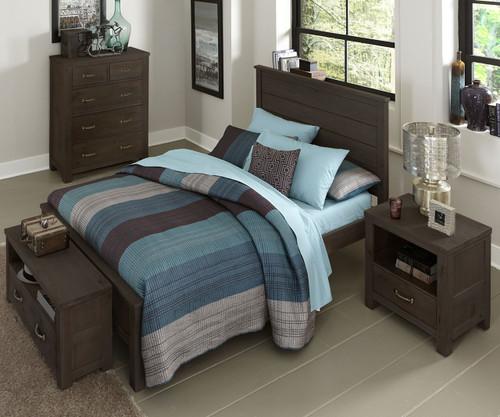 Everglades Alex Panel Bed Full Size Espresso | NE Kids Furniture | NE11025
