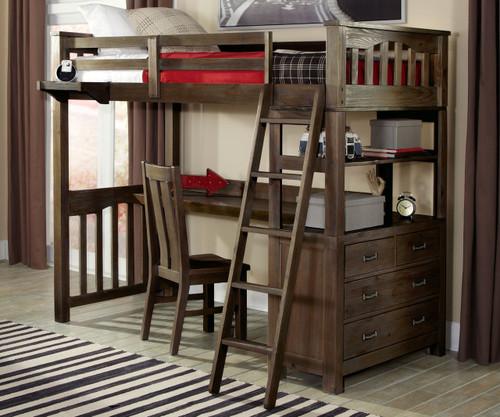 Everglades Loft Bed with Desk Espresso | NE Kids Furniture | NE11070-Desk