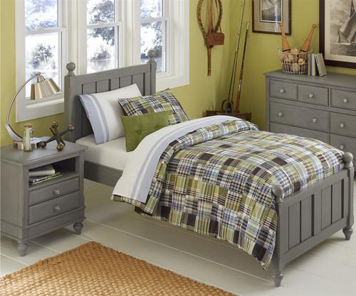 Lakehouse Kennedy Twin Bed Stone | NE Kids | NE2020